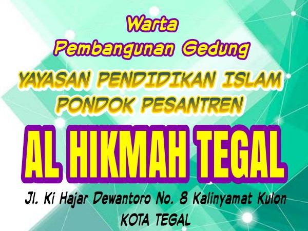 Pengecoran Sloof Pondasi Gedung Asrama Al Hikmah Tegal